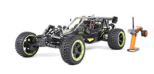MODELTRONIC RC Auto Buggy 1: 5 Rovan Sport 305A Pro 30.5CC Fly Sky GT3C Sender Energy Klon HPI Low Speed bis zu 70 Km / h. / Auto Royal Benzin (Negro)