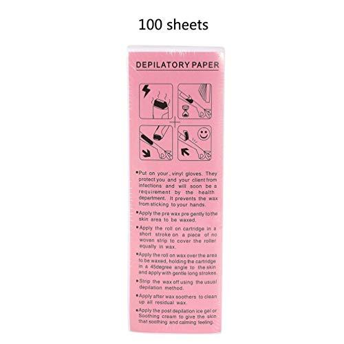 Wenwenzui 100 Stücke Haarentfernung Waxing Strips Waxing Papers Enthaarungs Beauty Tool