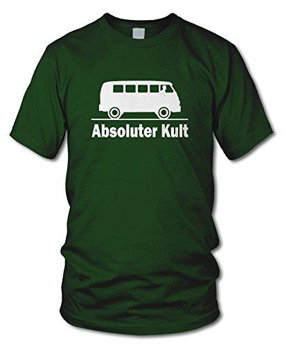 shirtloge - ABSOLUTER KULT - KULT - Fun T-Shirt - in verschiedenen Farben & Größe Dunkelgrün