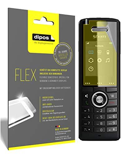 dipos I 3X Schutzfolie 100prozent passend für SNOM M65-C50 DECT Folie (Vollständige Bildschirmabdeckung) Bildschirmschutzfolie