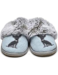 d646142028a Lazy Dogz Princess Ladies Mule Slippers Light Blue