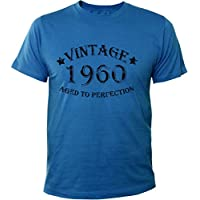 Mister Merchandise T-Shirt Vintage 1960 Aged To Perfection Jahre Geburtstag Years - Uomo Maglietta S-XXL - Molti Colori