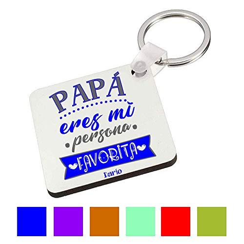 Llavero Cuadrado/Regalo día Padre/Papa/Hombre/Chico/Cumpleaños/Original/Texto