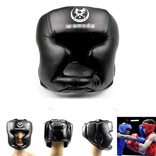 Yililay Adjustable Gute Kopfbedeckung Kopfschutz Practical Training Helm Kickboxen Schutzausrüstung Schwarz, Protektoren