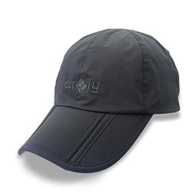 Outfly Herren Wasserdichte Baseballmütze, drei Falten Portable Cap