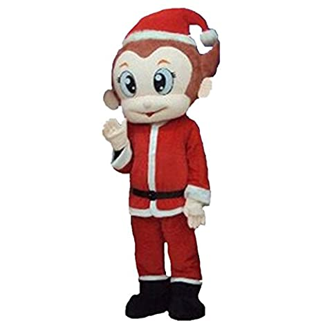 Mascottes Cartoon Costumes - Santa Claus Cartoon Singe Costume Halloween Party