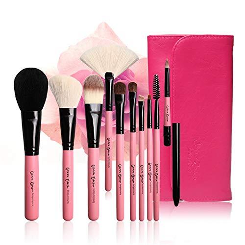 yyy123 Pinceau De Maquillage, Paquet De 10 Pinceaux De Maquillage, Pinceau De Maquillage pour Fond De Teint C Crayon Correcteur