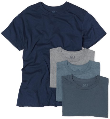 Fruit of the Loom Herren Unterhemd weiß weiß Assorted Blues and Grays