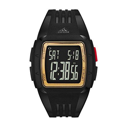 adidas Newburgh - Reloj de cuarzo con la correa de plástico para hombre, color negro / rojo