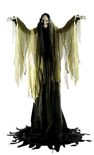 Riesen Halloween Hexe Animatronic Agatha Leuchtaugen Sound Bewegung USA Import 2 Meter groß Party (Animatronics Halloween)
