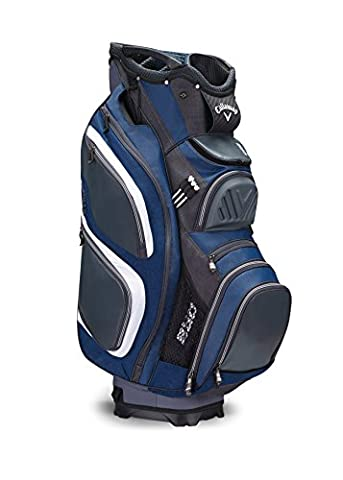 Callaway 2017 ORG 15 Cart Bag Mens Golf Trolley Bag 15-Way Divider Titanium/Navy/White