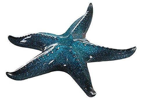 Bad-Dekoration Seestern blau . glasiert - Durchmesser: 24 cm