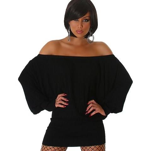 Jela London Vestito signore vestito dal knit del lungo abito camicia maglione unità pipistrello 38,40,42,44