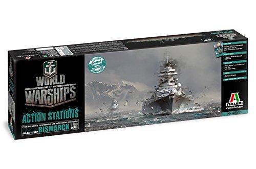 Carson 510046501 - 1:700 Bismarck, World of Warships, Wasserfahrzeug (Model Paint Kit Militär)