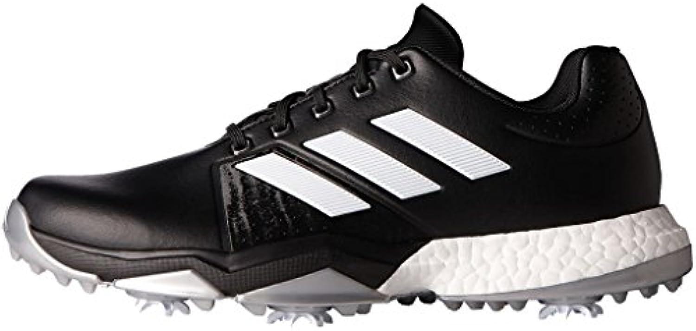 Adidas Adipower Boost 56 Zapatos de Golf para Hombre, Negro/Blanco/Plata, 42.6