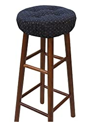 Klear Vu Gripper Twinlakes Barstool Cover, Navy