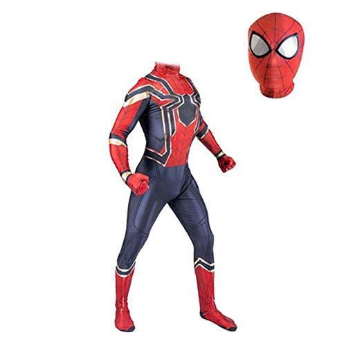 gikmhyb Rächer Eisen Spider-Man Cosplay Kostüm Spiderman Zentai Anzug Overall Onesies Druck Hoodie Halloween Kostüm Movie Party Superheld,Medium (Eisen Spiderman Kostüm)