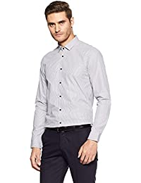 Arrow New York Men's Striped Slim Fit Business Shirt