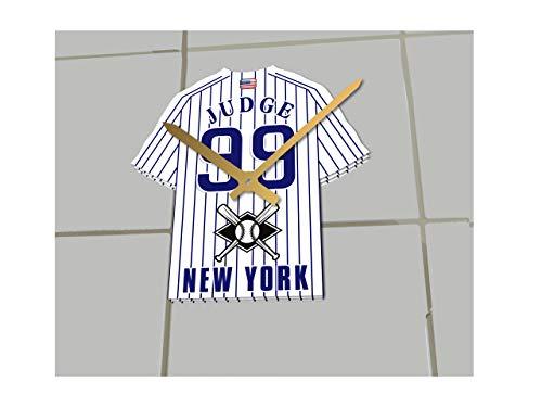 MyShirt123Uhr, Major League Baseball-mit MLB-Team-Trikot - personalisierbar, New York Yankees MLB Baseball Jersey, 17.5CM X 15CM X 0.5CM