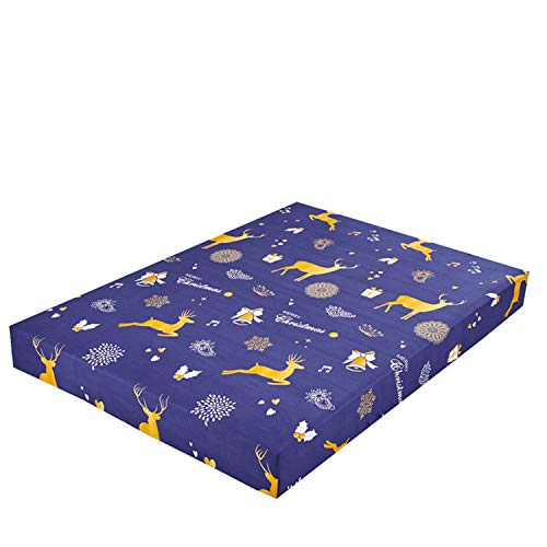 Comeyang Set Feste Matratze-Abdeckung Anti-Rutsch-Stretch Bettlaken Antistaubmilbe Bettpolster Matratze Spannbettlaken mit,Karikaturdruckabdeckung 7 90X200 + 25cm