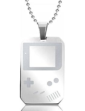 Halskette Game Boy, rechteckig, leicht, für Gravur