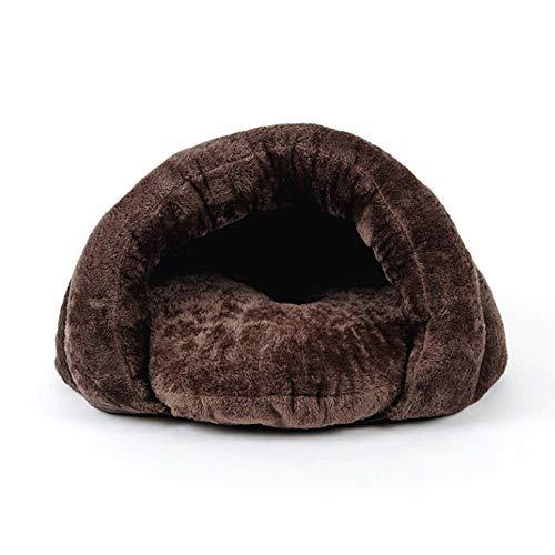 MMPY Warme Herbst- und Winterweiche warme Hundehaus-Haustierbett-Schlafsack-Katzenstreumatte Haustier-Loch-Hundehütte-Geschenk (Color : A, Size : Medium) -
