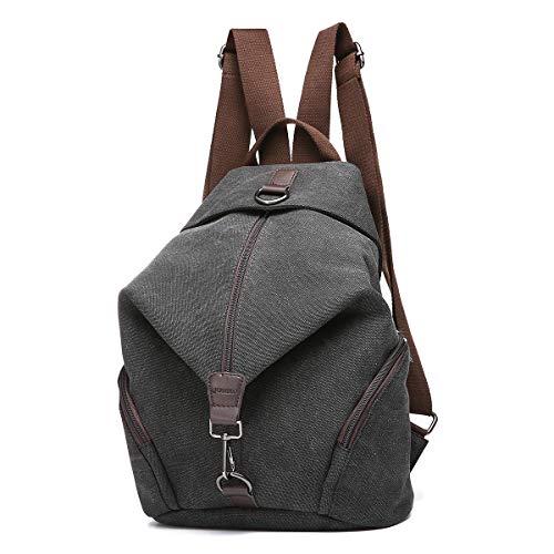 Tela donne zaino, joseko borsa da viaggio per donna di grande capienza borsa da viaggio vintage (nero)