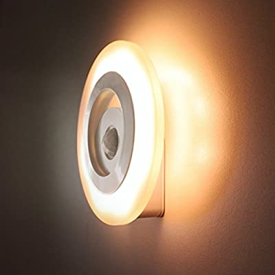 OKPOW Wireless PIR Motion Sensor Light Table Lamp Sensor Night Light Battery-Operated with 3 Modes for Baby Night Room Grandma Room Bathroom Kitchen Camping Tent and Other Little Nook Areas - cheap UK light shop.
