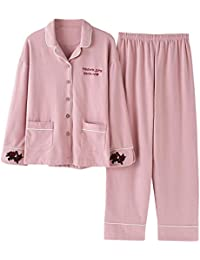 7b6dc4190 Meaeo Pijamas Conjuntos Algodón Hombre Mujeres Pareja Ropa De Dormir Traje  De Casa Regalo Mujer Ropa