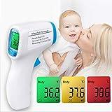 Huaaag Thermometer Digital Body Temperatur Fever Messung Stirn Berührungs Nicht-Kontakt Infrarot LCD IR Thermometer Baby & Erwachsene Thermometer