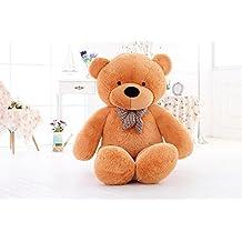 Fortuna Sweety osito de peluche Toy oso de peluche blanco/marrón/rosa, 80/100/120cm, marrón claro, 100cm/39''