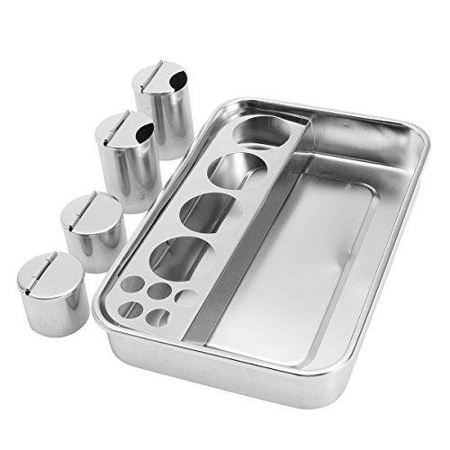 EsportsMJJ Tätowierung Sterilisierung Flach Tablett Medizinische Desinfektion Plattenfach 3/4 Flasche Trocken Wärme Sterilisator Tray - #1 - Flasche Sterilisator Kit