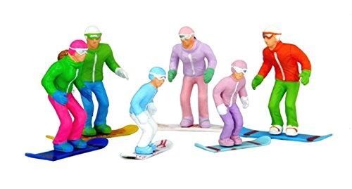 Jaegerndorfer Jaegerndorferjc54300Tête de Figurines Debout avec Snowboards (Lot de 6)
