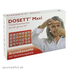 Dosett Arzneikasssette MAXI, rot, Einteilung für 1 Woche