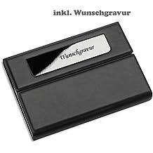Visitenkartenetui Zigarettenetui Visitenkartenbox mit Gravur  Metall mattsilber