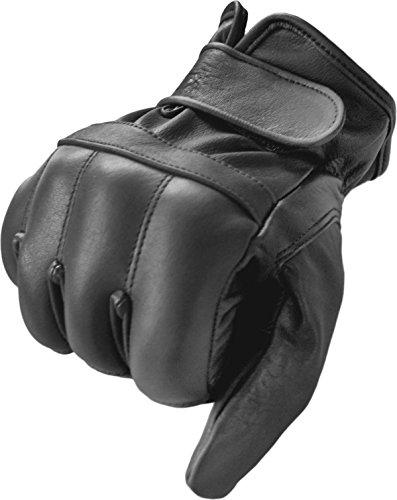 #Security Quarzsandhandschuhe aus echtem Leder Farbe Schwarz Größe L#