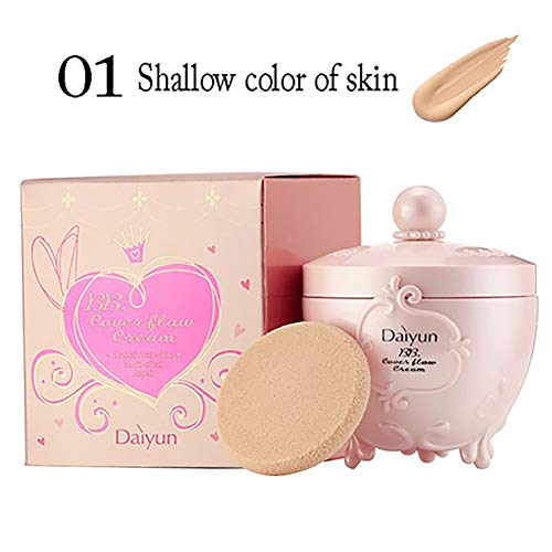 Bio BB Cream All In One Tinted Moisturizer Foundation Perfekte Glow BB Creme glättet die Haut Textur Evens Hautton für alle Hauttypen Beste Valentines Geschenk (Light Beige) 1PC