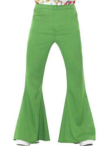 Schlaghose 60er 70er Jahre Hippie Sechziger Jahre Siebziger Jahre, XL, Grün ()