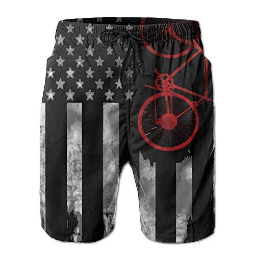 Bag hat Bicycle Flag Men's Summer Beach Shorts Board Shorts with Pockets XL