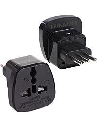 UHPPOTE Tipo L Adaptador Conversor AC Power Poentecia Enchufe Clavija Converter AC Socket Para Italia, Uruguay,…