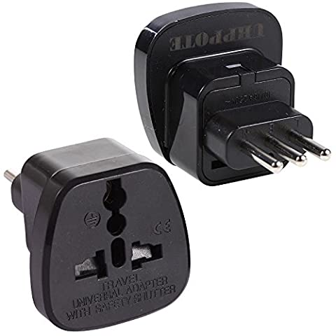 UHPPOTE Type L Travel Adapter Adaptor AC Power Plug Converter AC Socket For Italy Uruguay Norm San Marino (Pack of
