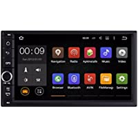 Lacaca Android 5.1 Lollipop Quad Core 2 DIN 7 pollici auto Radio Stereo Head Unit con 800 * 480 supporto touch screen Navigazione GPS Bluetooth controllo del volante WiFi 3 G OBD2 cam-in DAB