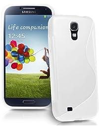 Connect Zone® Weiß S Line Gel Schaukasten Für Samsung Galaxy S4 Mini i9190 - Display Schutz & Mini Stylus