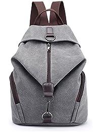 d8b67ea2b72ef Damen Rucksack Vintage Canvas Schulrucksäcke Wanderrucksack Schultasche  Teenager Rucksack Daypacks für Outdoor Camping Außflug…
