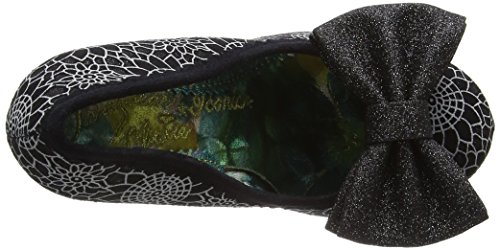 Irregular Choice Mal E Bow, Escarpins femme Noir (Black Glitter)