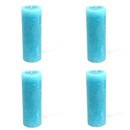 4-bougies-x-rustic-cylindrique-aqua-oe-68-x-190-mm-lot-de-4-bougies-pilier-de-bougies-pilier-bougie-