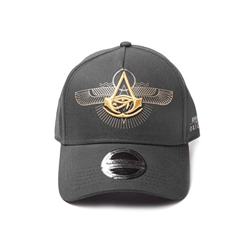 Preisvergleich Produktbild Assassins Creed Baseball Cap Origins Logo Curved offiziell Schwarz strapback