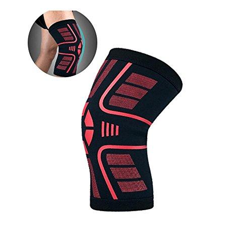 AOLVO Plus-Kompressions-Kniebandage für Frauen und Männer, Arthritis-Entlastung & Meniskus-Tränenunterstützung Erholung Knie-Ärmel-Unterstützung für Laufen, Klettern, Fitnessstudio(1 Packung)