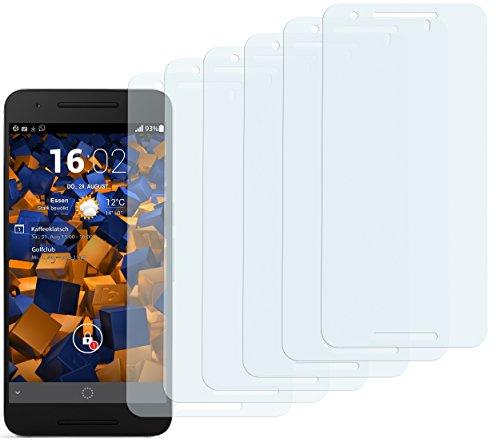 mumbi Schutzfolie kompatibel mit Huawei Google Nexus 6P Folie klar, Displayschutzfolie (6x)