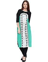 Amayra Casual 3/4 Sleeves Round Neck Multicolored Printed Women's Kurti